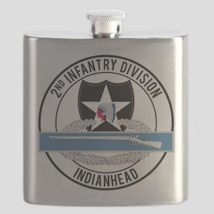 2nd ID CIB Indianhead Flask