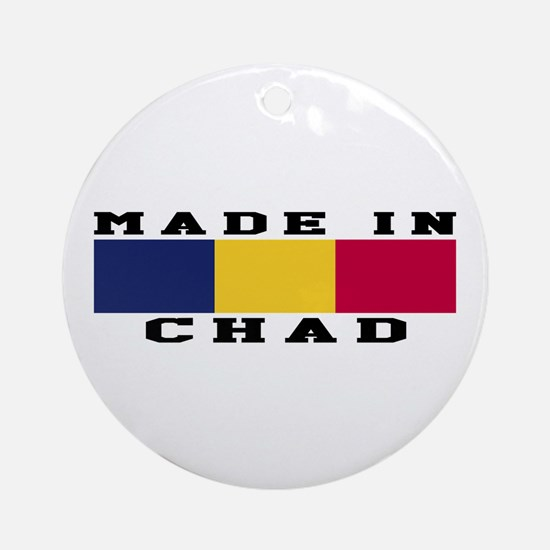 Chad Made In Ornament (Round)