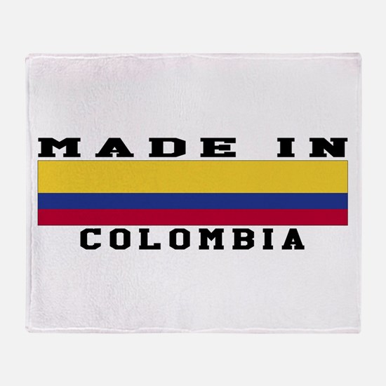 Colombia Made In Throw Blanket