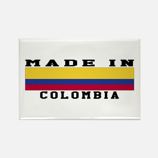 Colombia Made In Rectangle Magnet