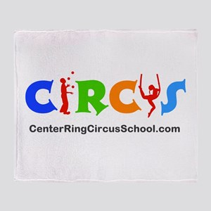 CenterRingCircusSchool Logo Throw Blanket