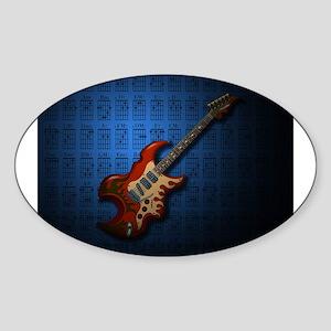 KuuMa Guitar 01 (B) Sticker (Oval)