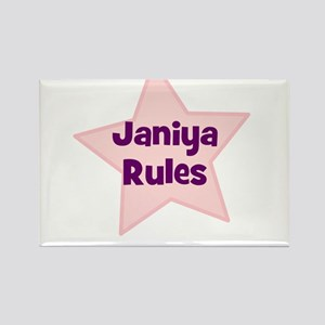 Janiya Rules Rectangle Magnet