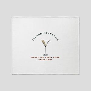 Island Slackers Martini Happy Hour Throw Blanket