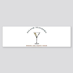 Island Slackers Martini Happy Hour Sticker (Bumper