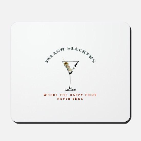 Island Slackers Martini Happy Hour Mousepad