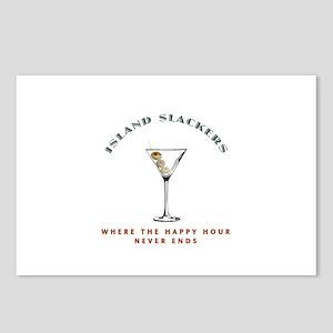 Island Slackers Martini Happy Hour Postcards (Pack