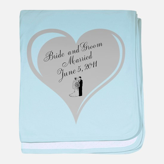 Bride and Groom personalized Wedding Heart baby bl