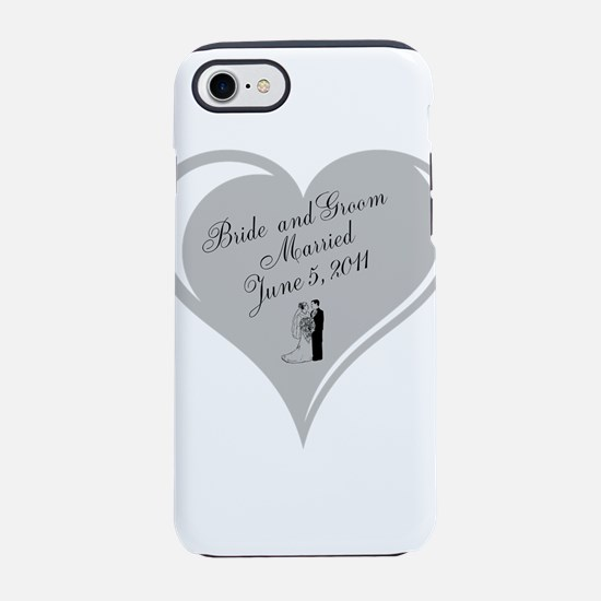 Bride and Groom personalized Wedding Heart iPhone