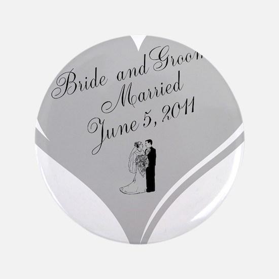 "Bride and Groom personalized Wedding Heart 3.5"" Bu"