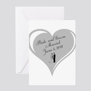 Bride and Groom personalized Wedding Heart Greetin
