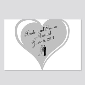 Bride and Groom personalized Wedding Heart Postcar