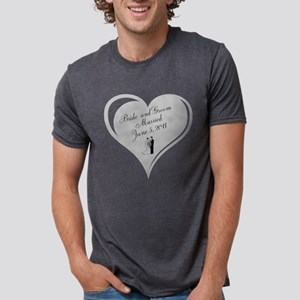 Bride and Groom personalized Wedding Heart Mens Tr