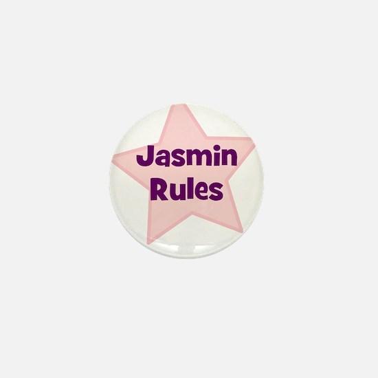 Jasmin Rules Mini Button