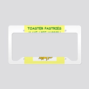 toaster pastries License Plate Holder