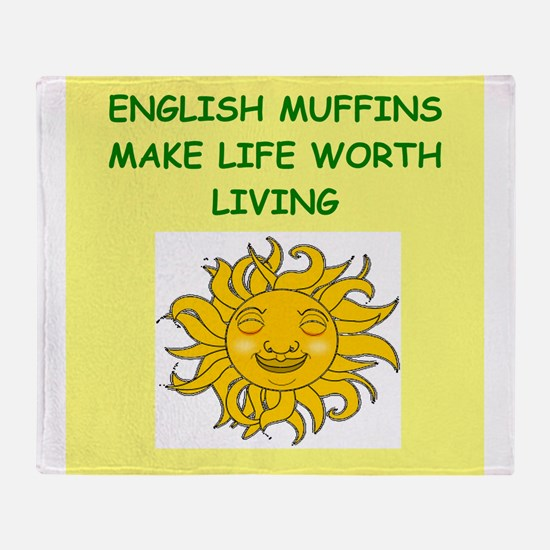 english muffins Throw Blanket