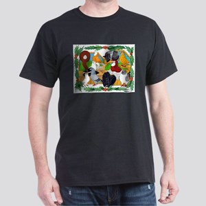 Christmas Pigeons Dark T-Shirt