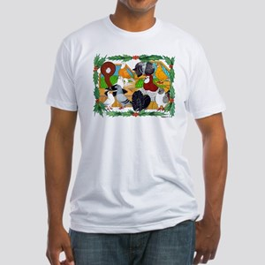 Christmas Pigeons Fitted T-Shirt