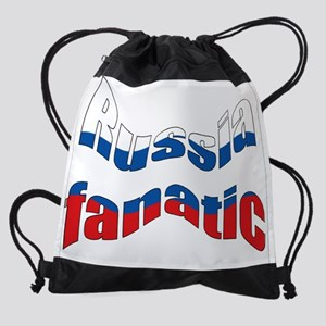 Russia fanatic Drawstring Bag