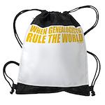 4-ruleworld_dark.png Drawstring Bag