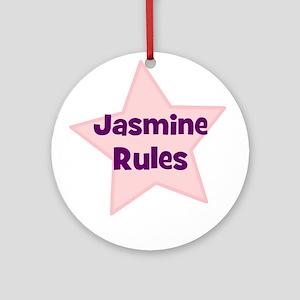 Jasmine Rules Ornament (Round)