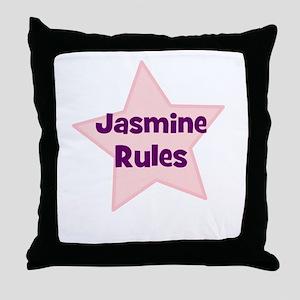 Jasmine Rules Throw Pillow