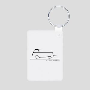 Speedy Single Cab Aluminum Photo Keychain