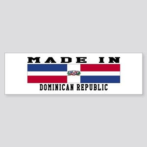 Dominican Republic Made In Sticker (Bumper)