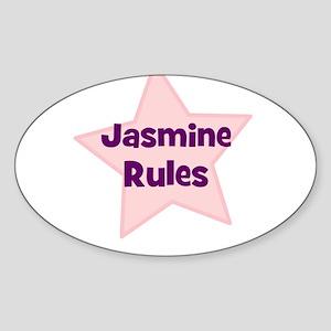 Jasmine Rules Oval Sticker