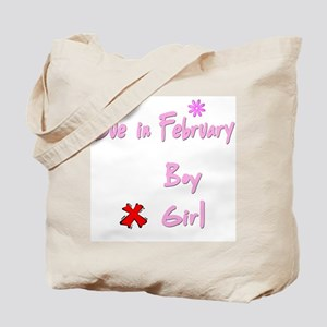 Due in February Girl Tote Bag