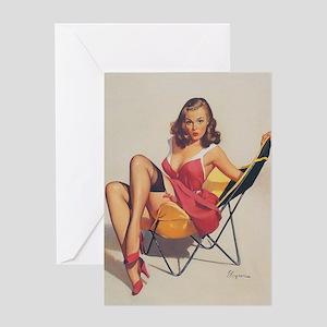 Classic Elvgren 1950s Vintage Pin Up Girl Greeting