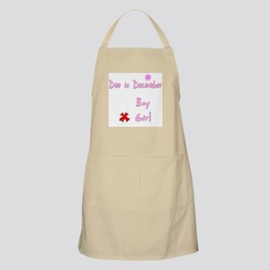 Due in December Girl BBQ Apron