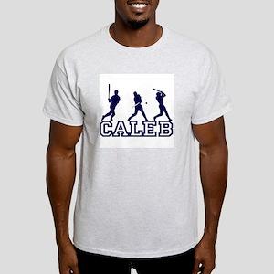 Baseball Caleb Personalized Ash Grey T-Shirt