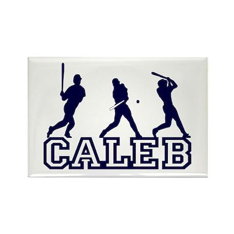 Baseball Caleb Personalized Rectangle Magnet