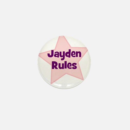 Jayden Rules Mini Button