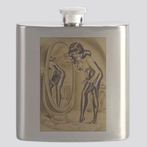 Classic Bill Ward 1950s Vintage Pin Up Girl Flask