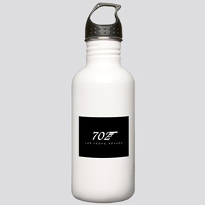 702 Las Vegas - Black Water Bottle