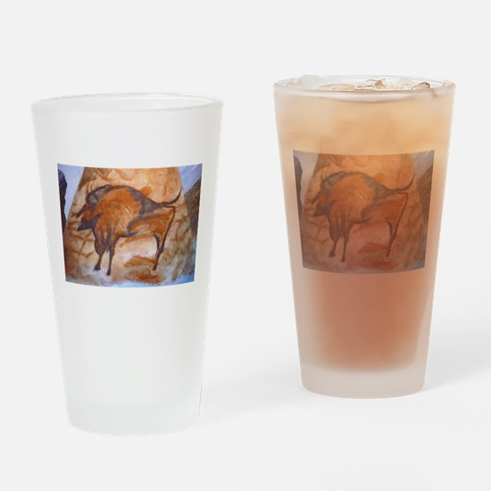 Alta Mira Bison Cave Painting Drinking Glass
