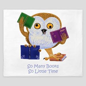 So Many Books So Little Time King Duvet
