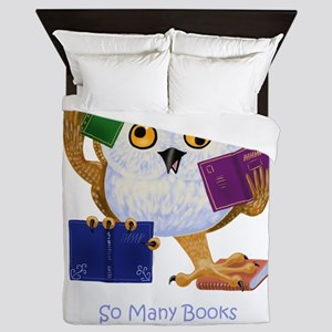 So Many Books So Little Time Queen Duvet
