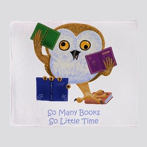 So Many Books So Little Time Throw Blanket