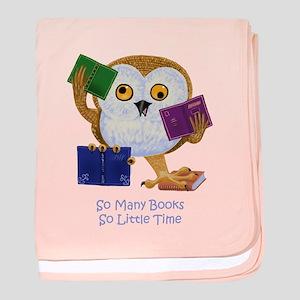 So Many Books So Little Time baby blanket