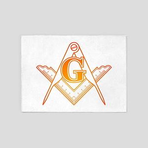 Freemason3 5'x7'Area Rug
