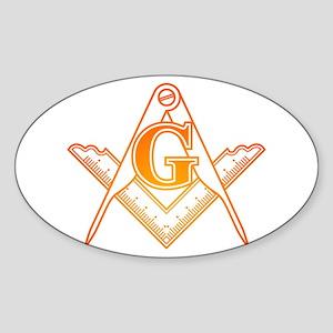 Freemason3 Sticker (Oval)