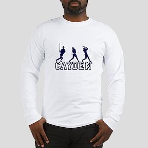 Baseball Cayden Personalized Long Sleeve T-Shirt