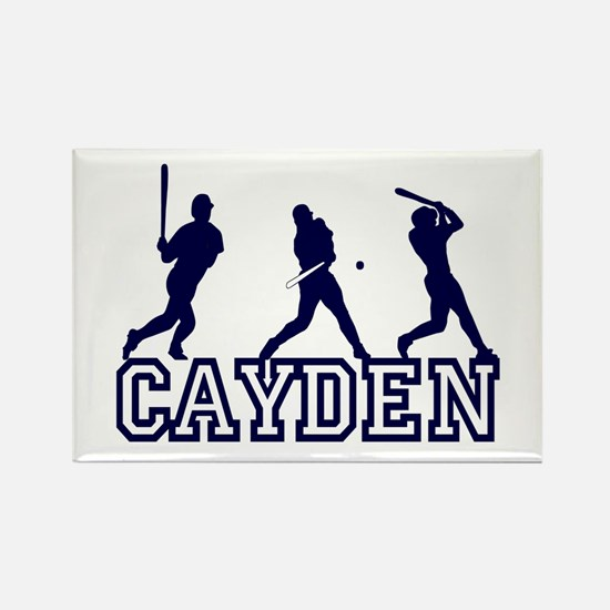 Baseball Cayden Personalized Rectangle Magnet