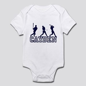 Baseball Cayden Personalized Infant Bodysuit