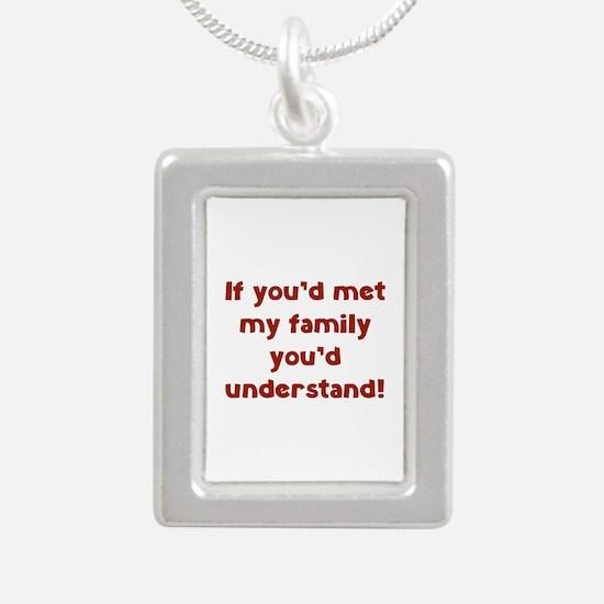 You'd Understand Silver Portrait Necklace