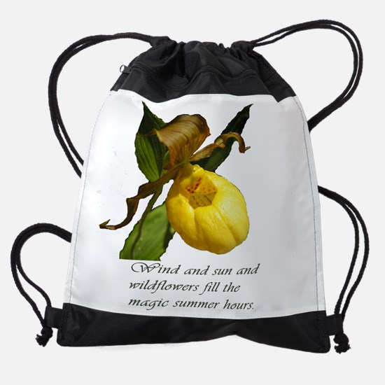 Ladys slipper with thoughts Drawstring Bag