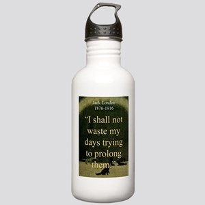 I shall Not Waste My Days - London Water Bottle